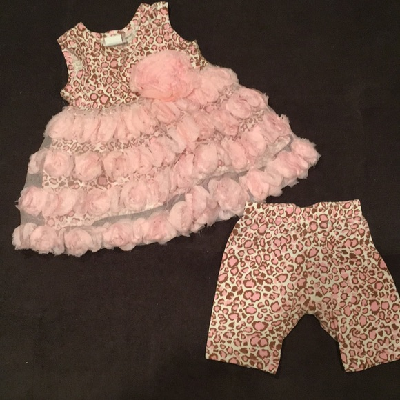 cach cach Other - Cheetah print and floral matching outfit